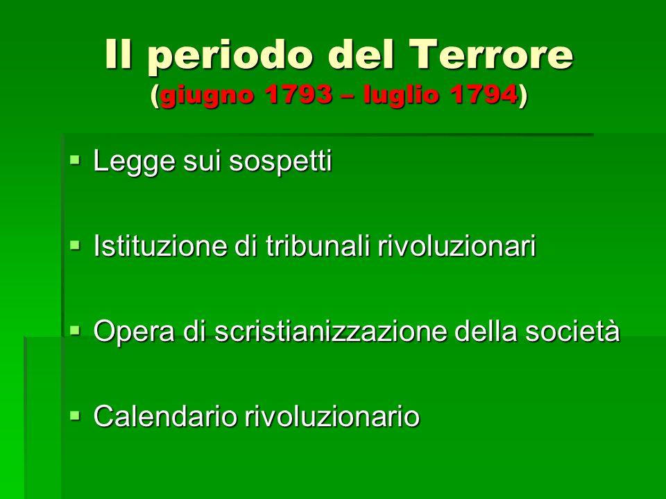 Il periodo del Terrore (giugno 1793 – luglio 1794)