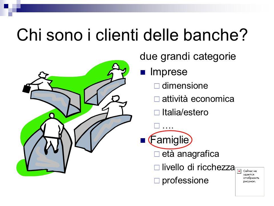 Chi sono i clienti delle banche