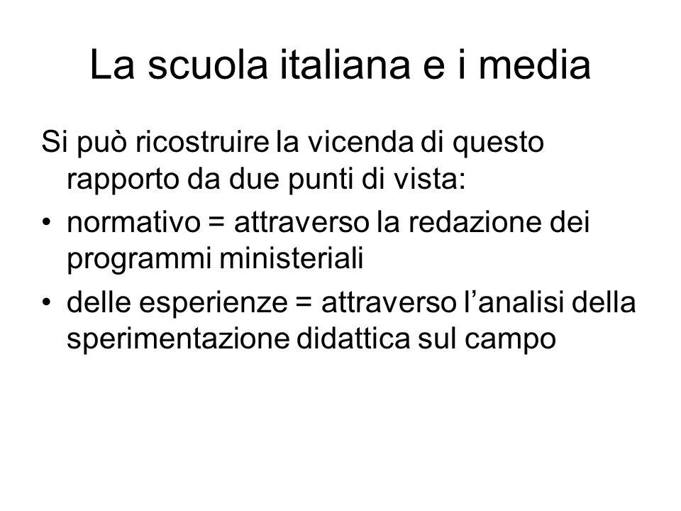 La scuola italiana e i media