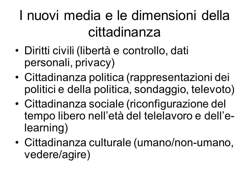 I nuovi media e le dimensioni della cittadinanza