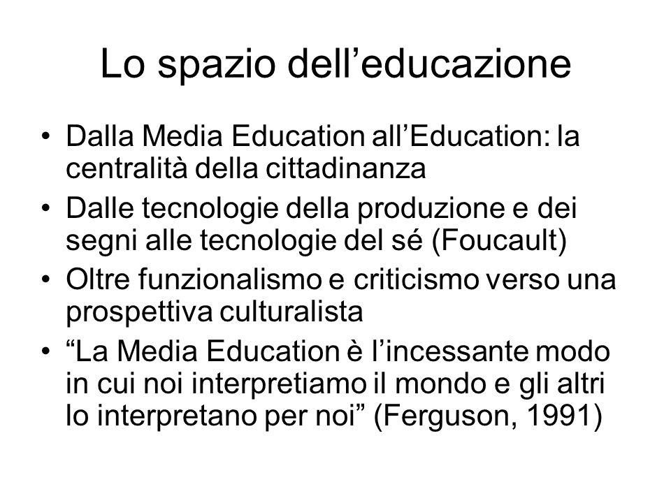 Lo spazio dell'educazione