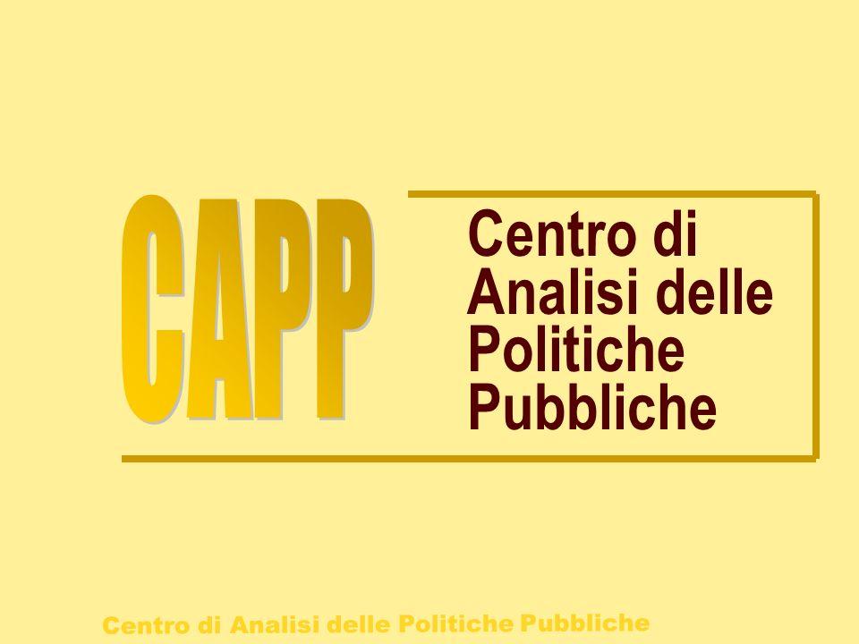 CAPP Centro di Analisi delle Politiche Pubbliche