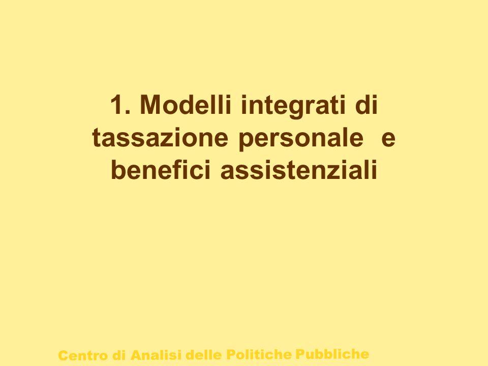 1. Modelli integrati di tassazione personale e benefici assistenziali