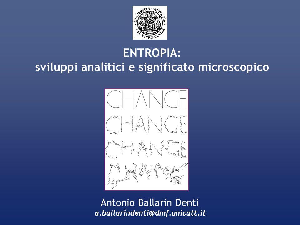 sviluppi analitici e significato microscopico