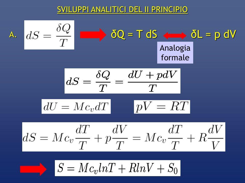 SVILUPPI ANALITICI DEL II PRINCIPIO