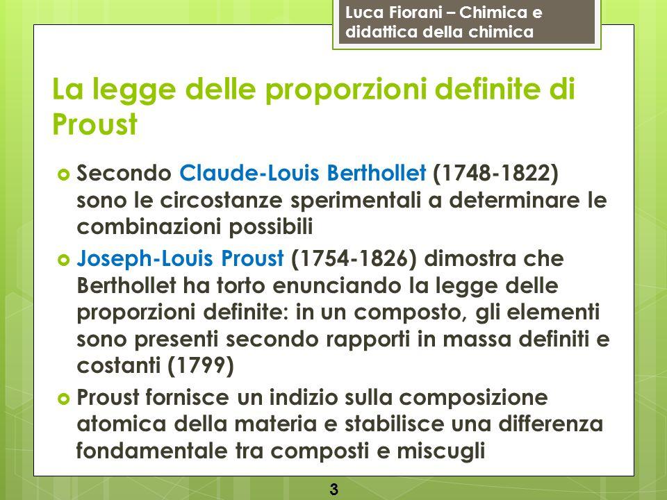 La legge delle proporzioni definite di Proust