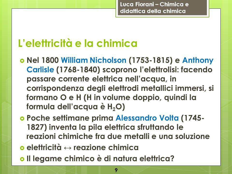 L'elettricità e la chimica