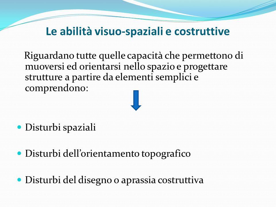 Le abilità visuo-spaziali e costruttive