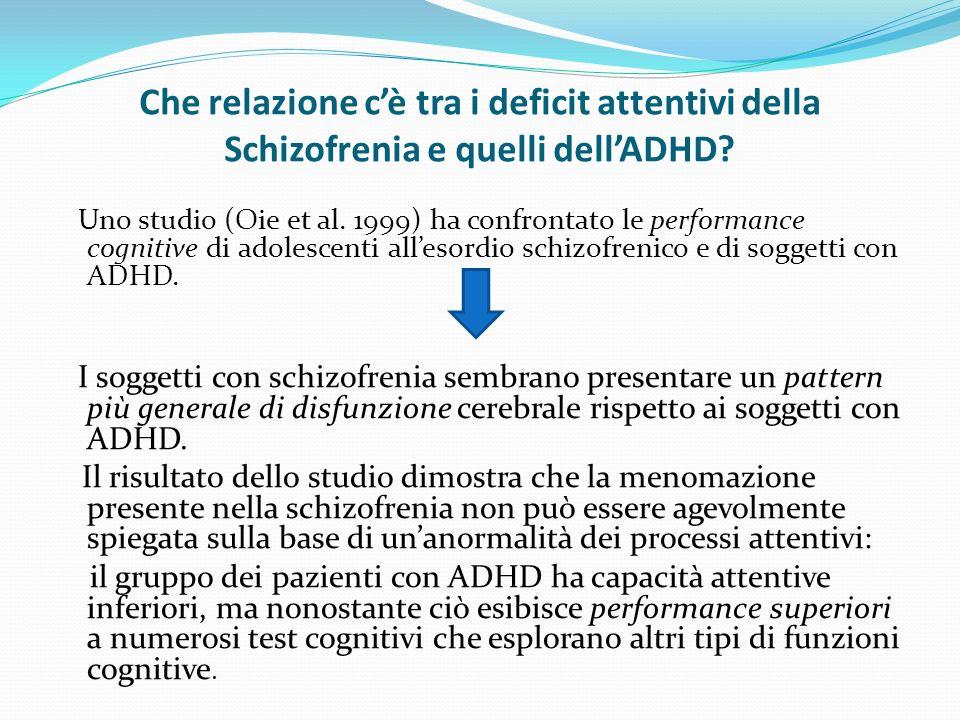 Che relazione c'è tra i deficit attentivi della Schizofrenia e quelli dell'ADHD