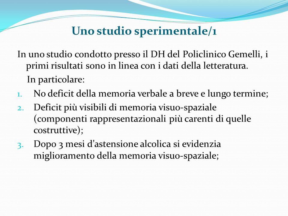 Uno studio sperimentale/1