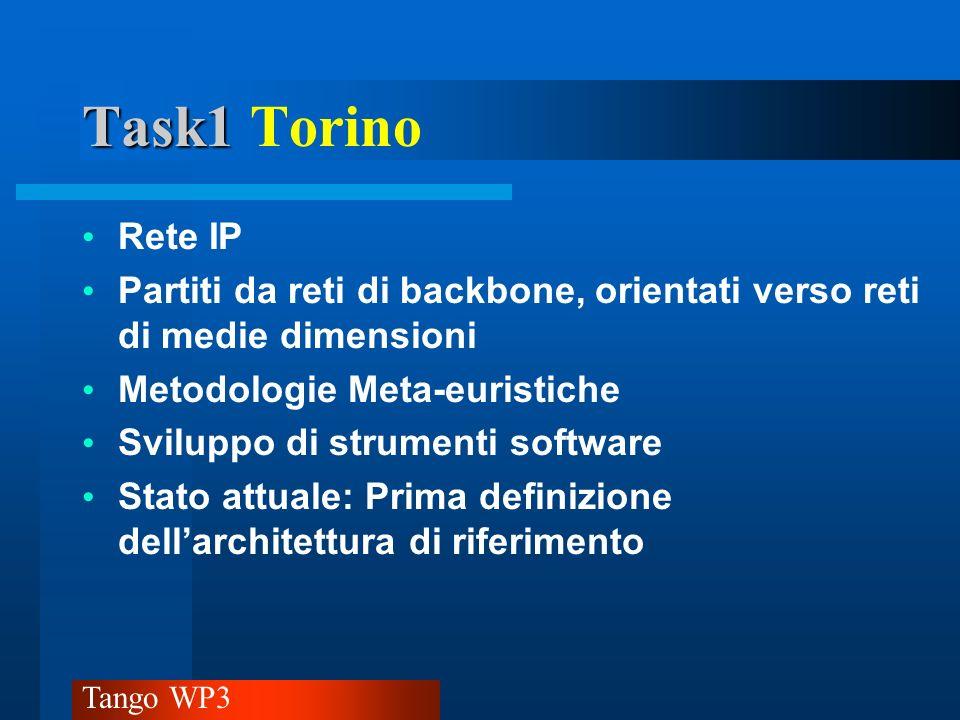 Task1 Torino Rete IP. Partiti da reti di backbone, orientati verso reti di medie dimensioni. Metodologie Meta-euristiche.