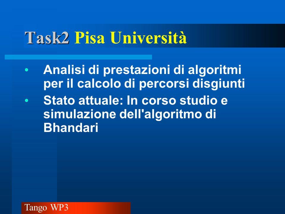 Task2 Pisa Università Analisi di prestazioni di algoritmi per il calcolo di percorsi disgiunti.