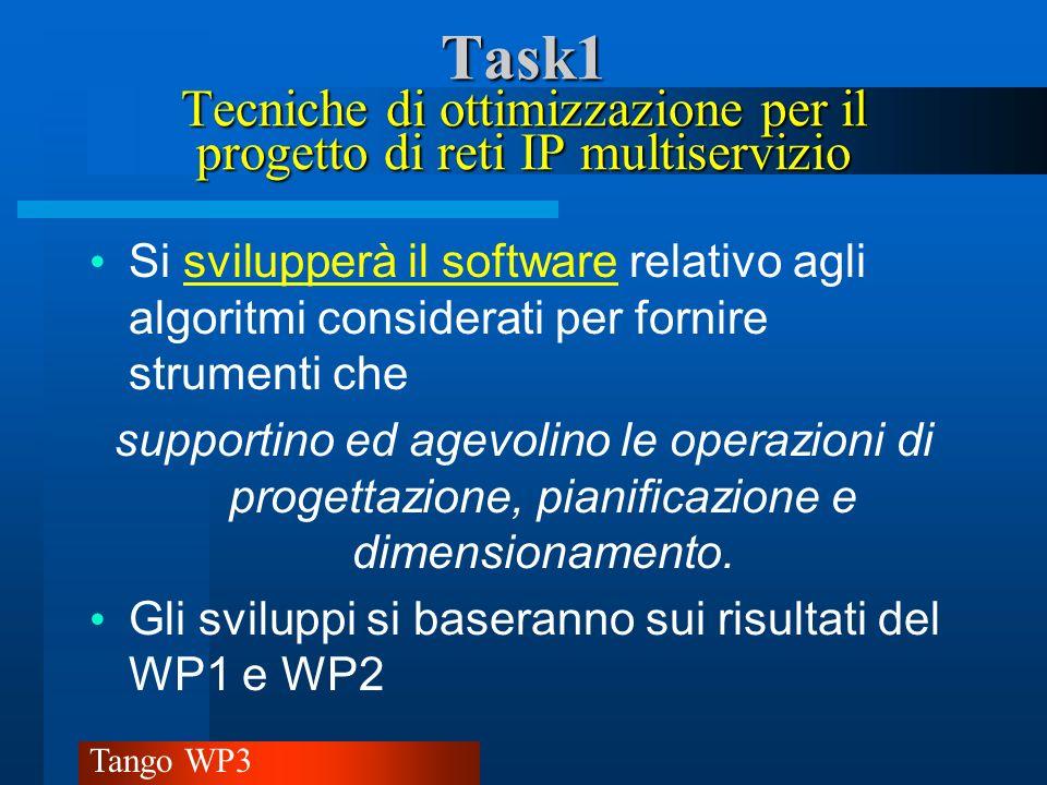 Task1 Tecniche di ottimizzazione per il progetto di reti IP multiservizio
