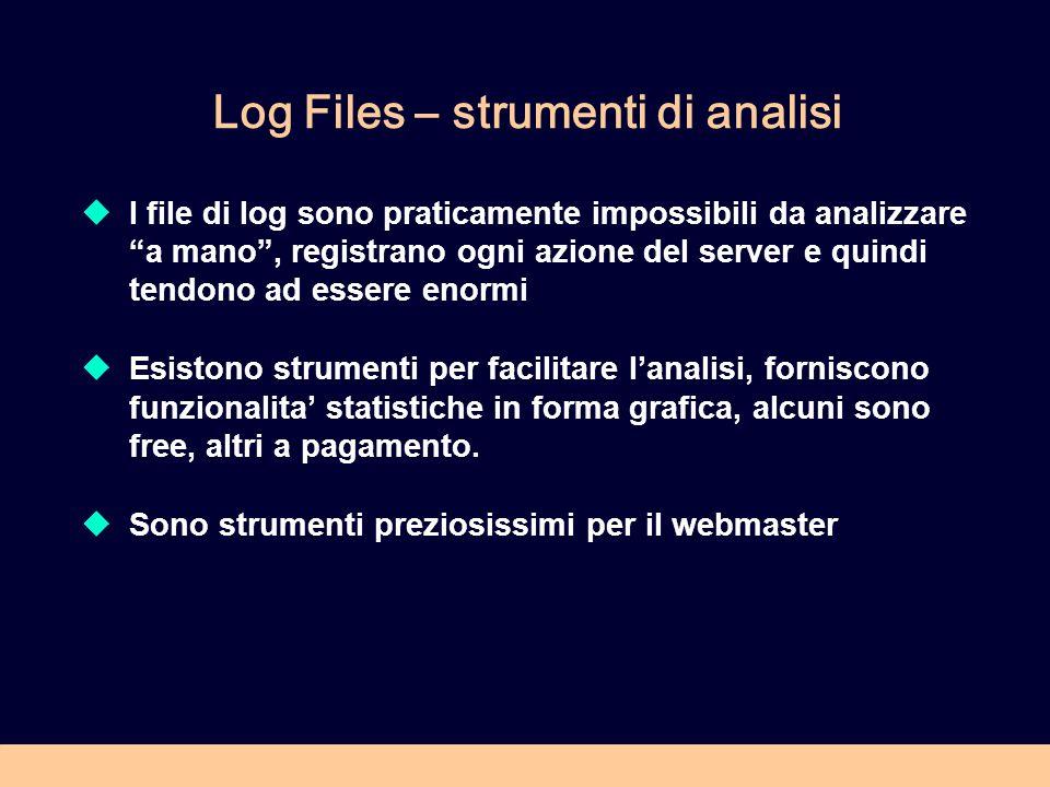 Log Files – strumenti di analisi