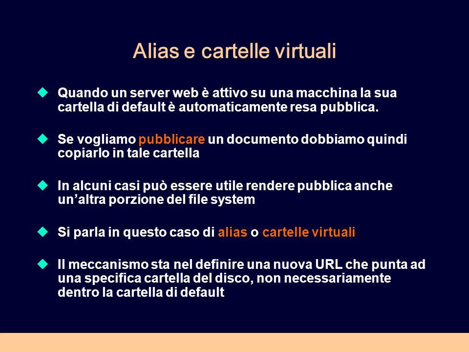 Alias e cartelle virtuali