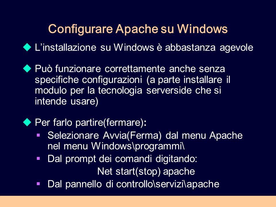 Configurare Apache su Windows