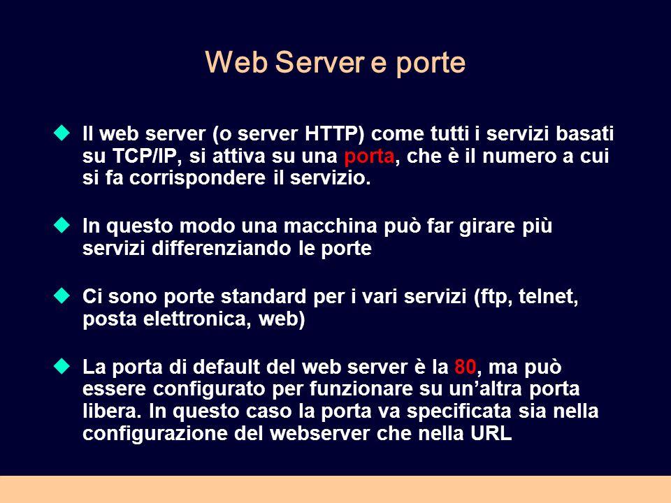 Web Server e porte