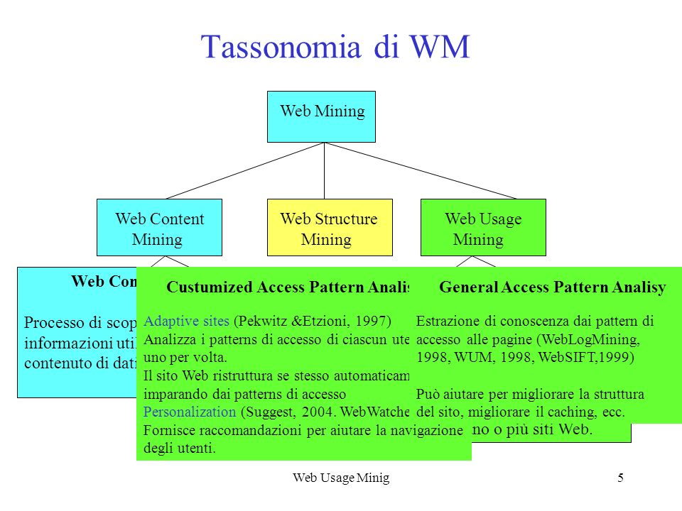 Tassonomia di WM Custumized Access Pattern Analisy