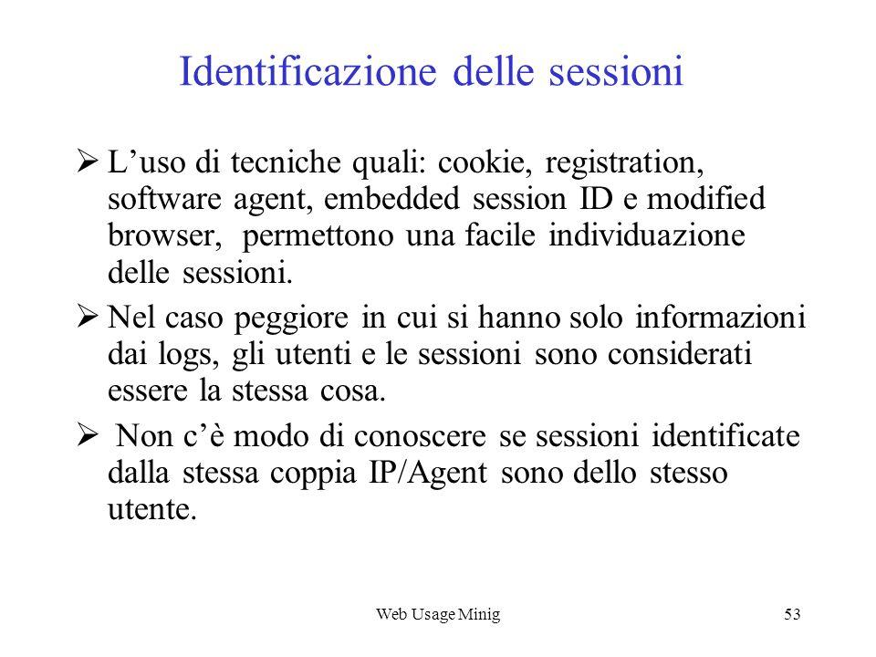 Identificazione delle sessioni