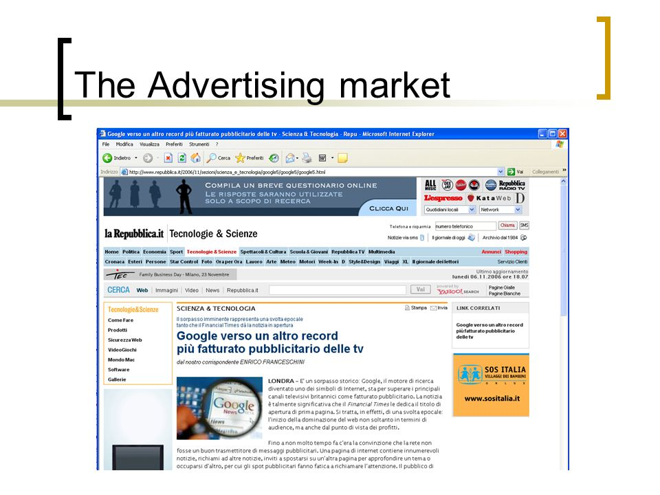 The Advertising market