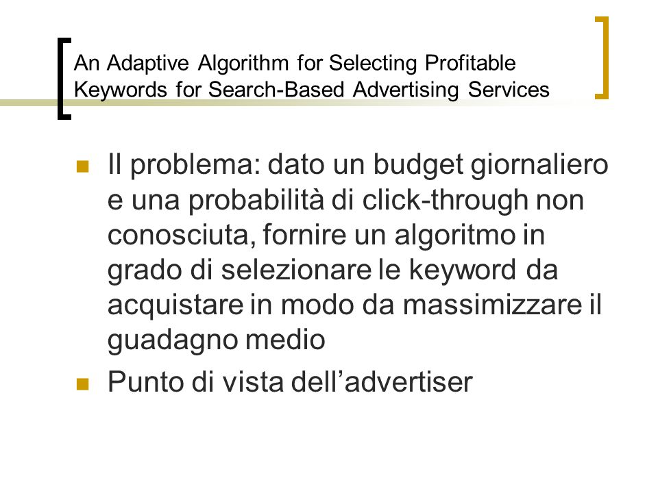 Punto di vista dell'advertiser