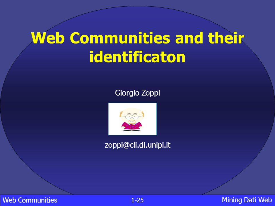 Web Communities and their identificaton