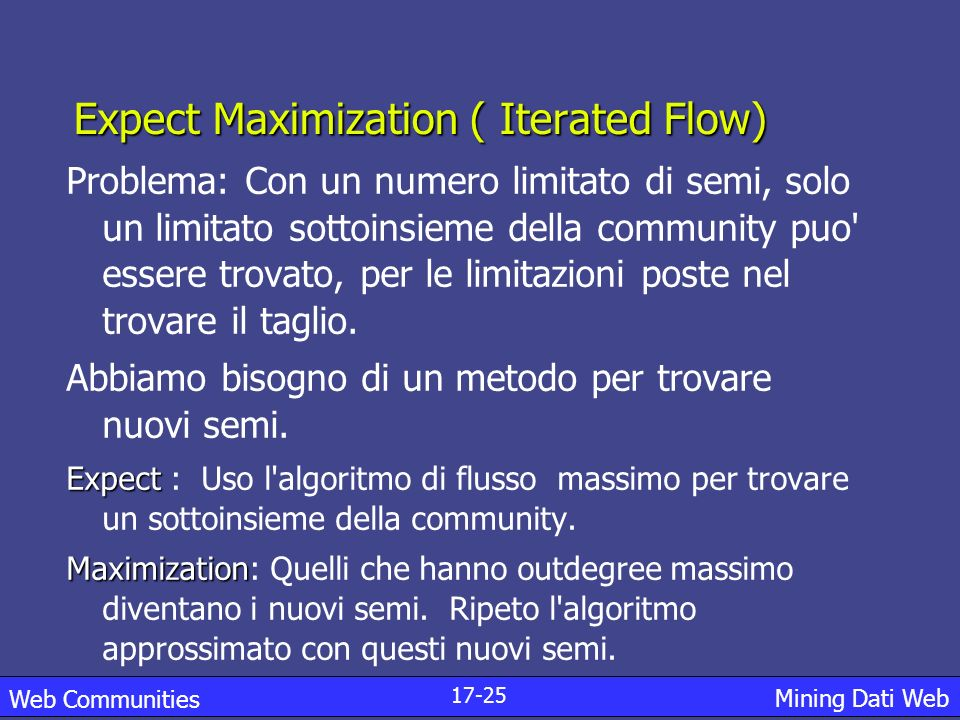 Expect Maximization ( Iterated Flow)