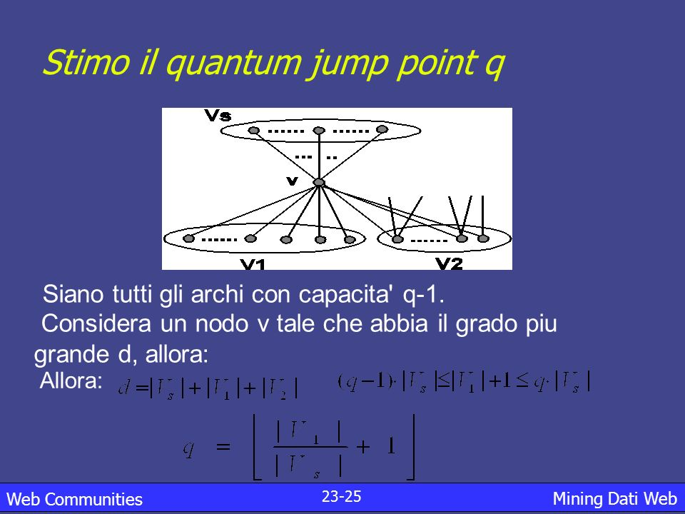 Stimo il quantum jump point q