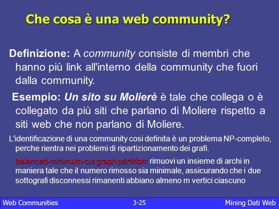 Che cosa è una web community