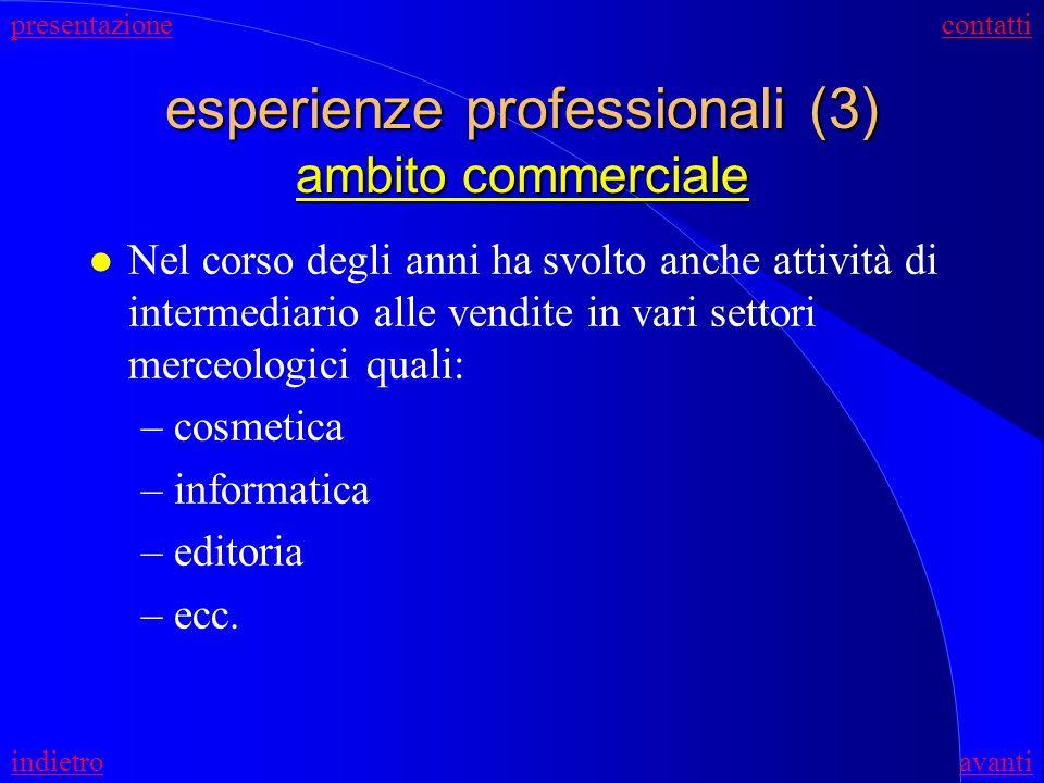 esperienze professionali (3) ambito commerciale