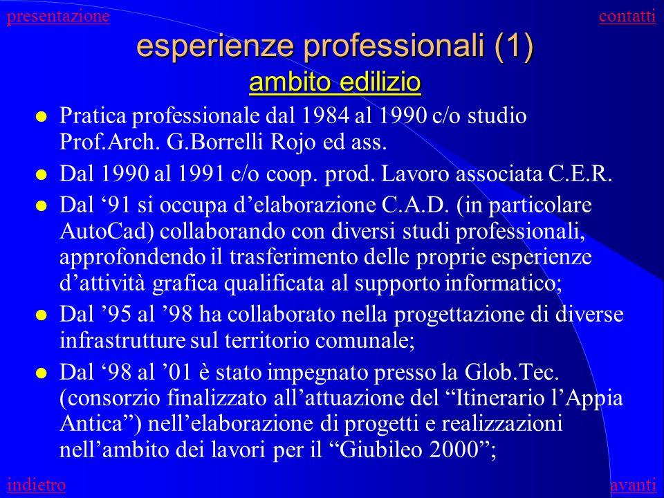 esperienze professionali (1) ambito edilizio