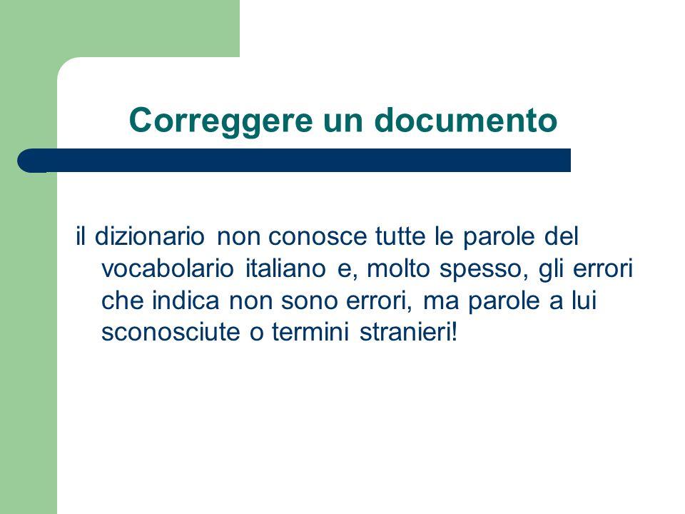 Correggere un documento