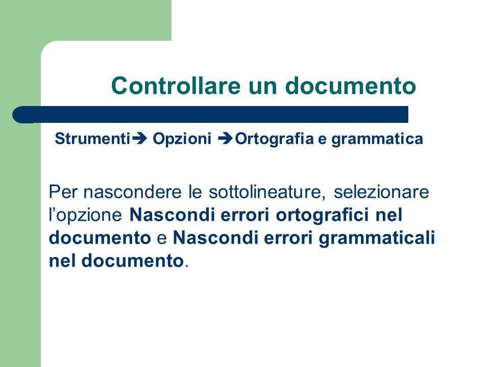 Controllare un documento