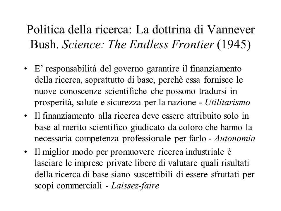 Politica della ricerca: La dottrina di Vannever Bush