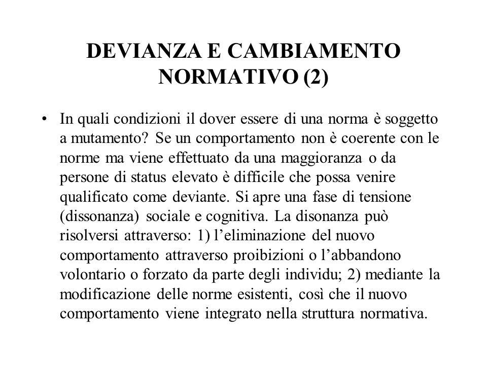 DEVIANZA E CAMBIAMENTO NORMATIVO (2)