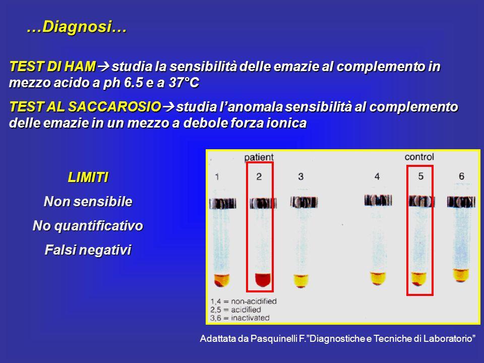 Adattata da Pasquinelli F. Diagnostiche e Tecniche di Laboratorio