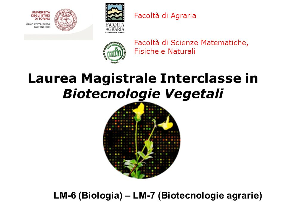 Biotecnologie Vegetali