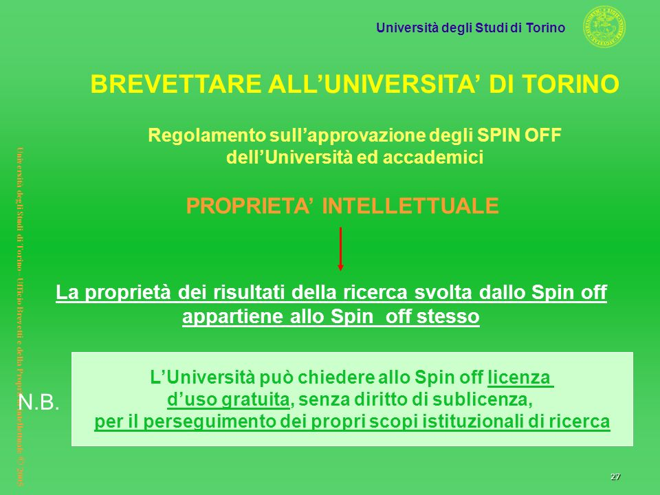 BREVETTARE ALL'UNIVERSITA' DI TORINO