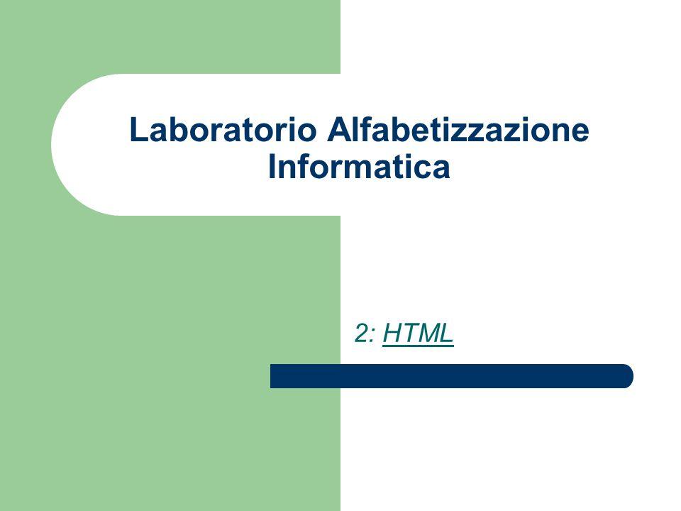 Laboratorio Alfabetizzazione Informatica