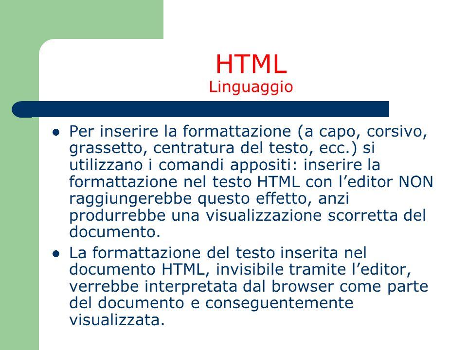 HTML Linguaggio