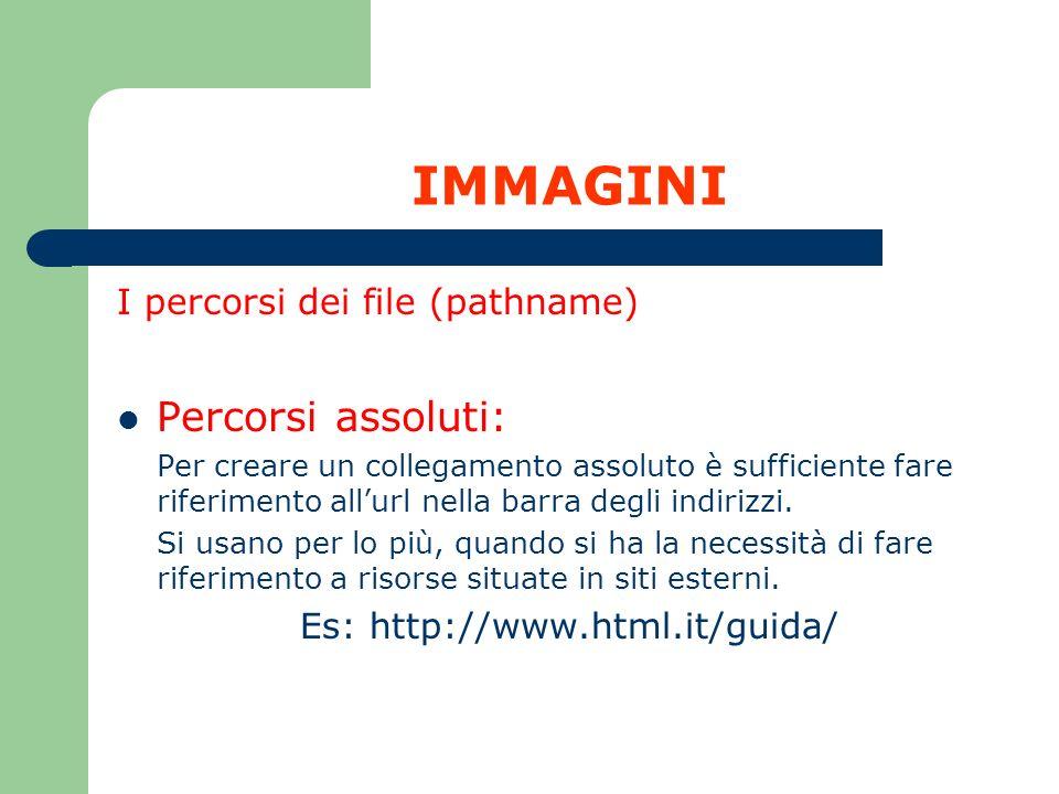 Es: http://www.html.it/guida/
