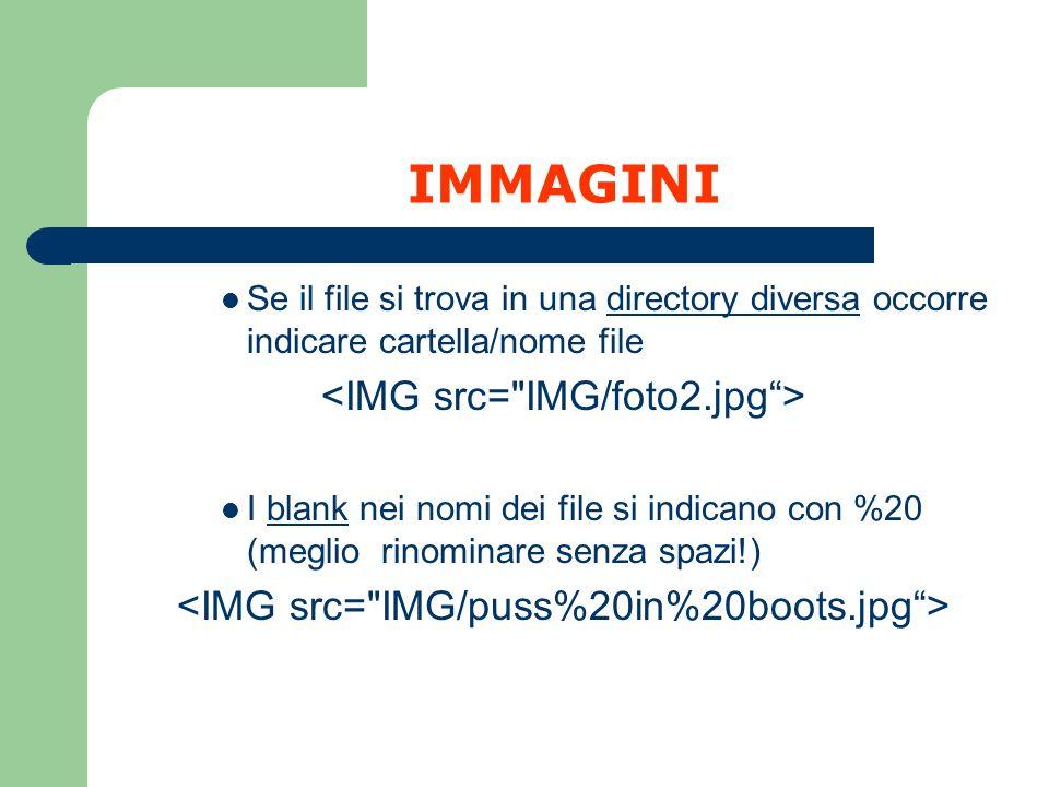IMMAGINI <IMG src= IMG/foto2.jpg >