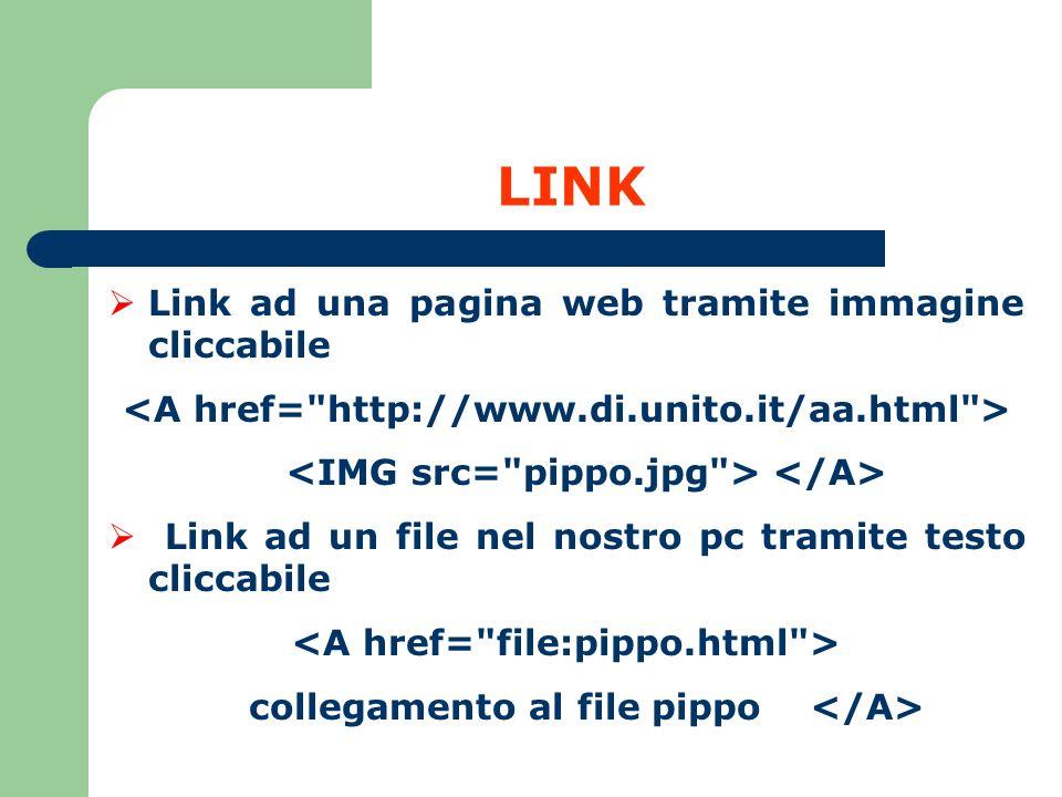 LINK Link ad una pagina web tramite immagine cliccabile