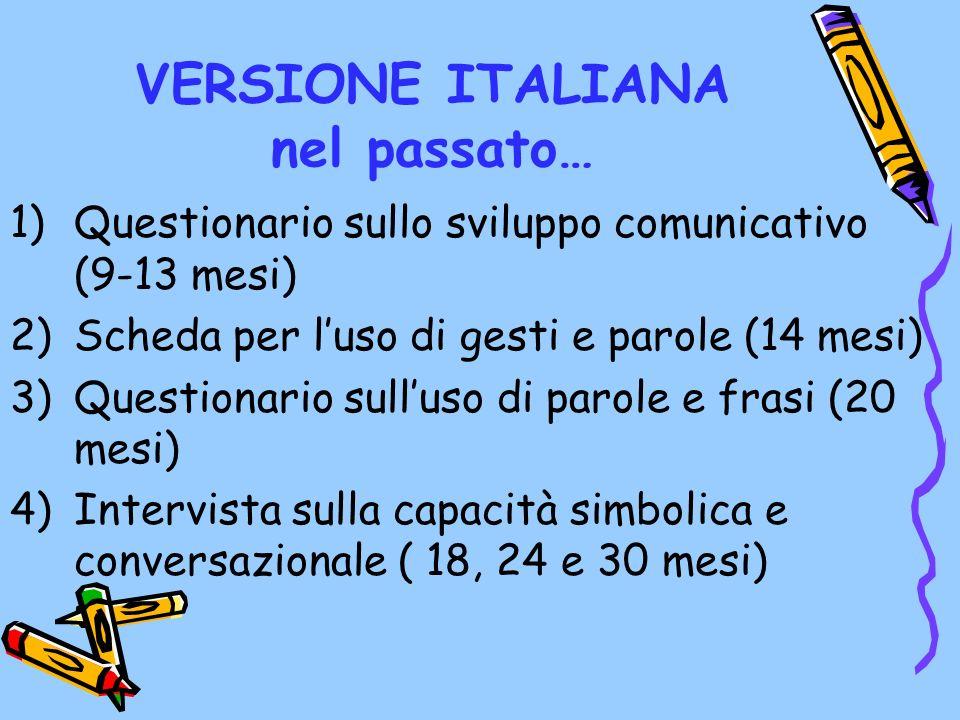 VERSIONE ITALIANA nel passato…