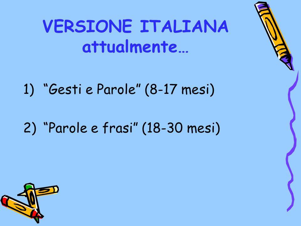 VERSIONE ITALIANA attualmente…