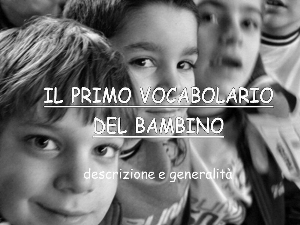 IL PRIMO VOCABOLARIO DEL BAMBINO