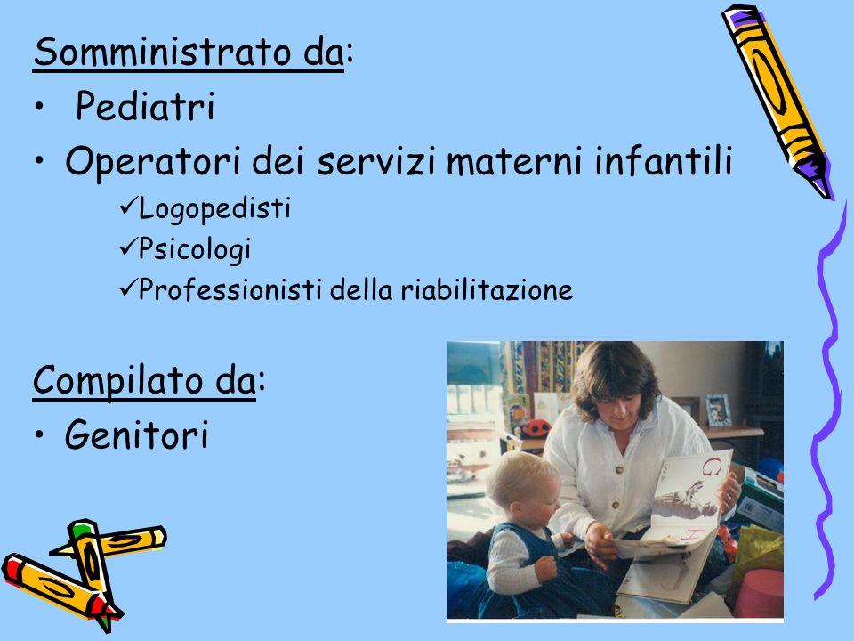 Operatori dei servizi materni infantili