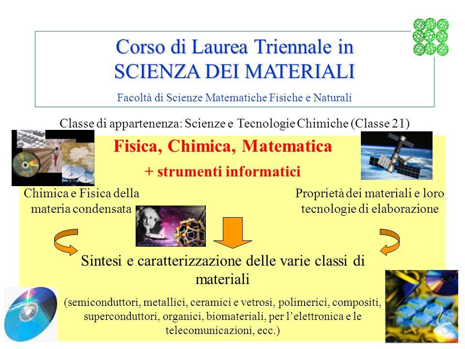 Fisica, Chimica, Matematica + strumenti informatici