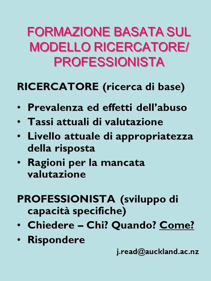 FORMAZIONE BASATA SUL MODELLO RICERCATORE/ PROFESSIONISTA