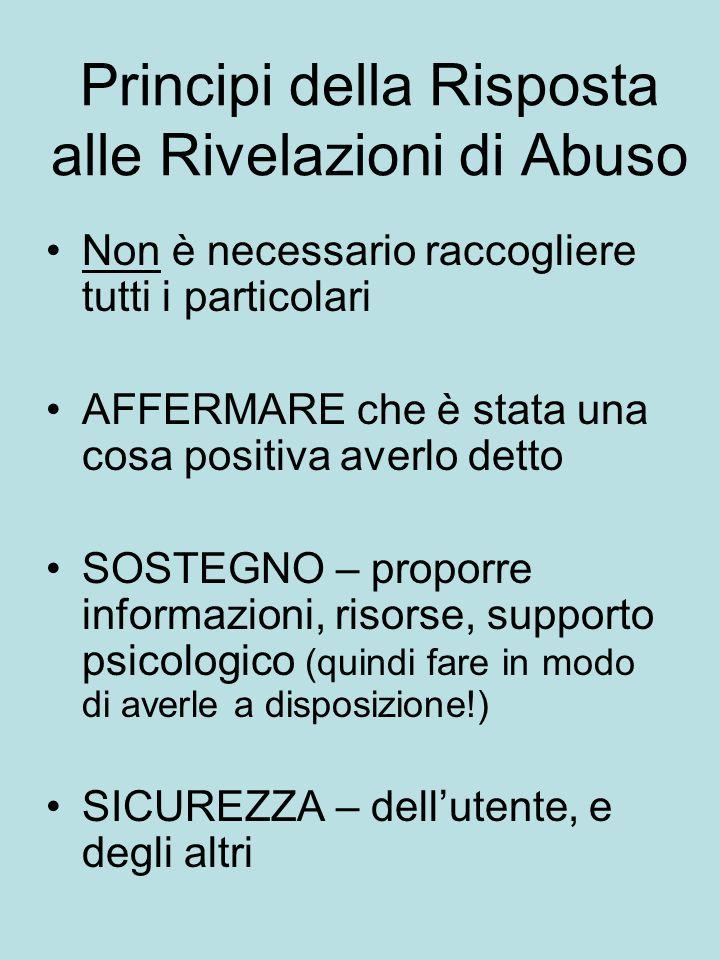 Principi della Risposta alle Rivelazioni di Abuso